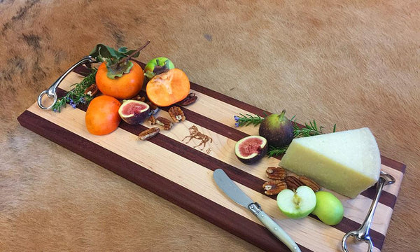 Equestrian farm to table cutting board and picnic for the polo fieldside