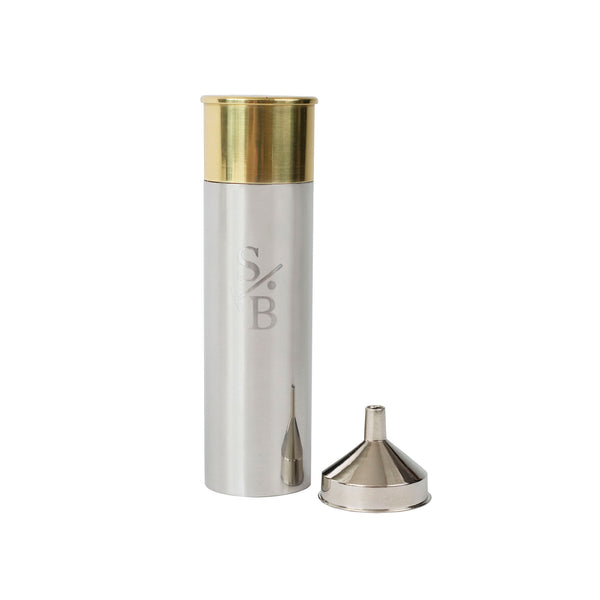 Two-toned Shotgun Shell Flask - Stick & Ball