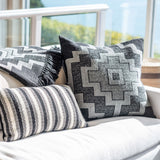 Hand-loomed Diamond Stripe Alpaca Pillow, Pampa Pillow & Throw - Stick & Ball