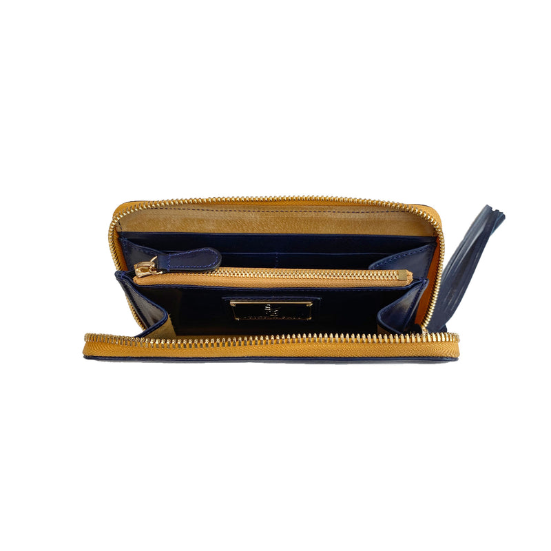 Stick & Ball Zip / Clutch Wallet - Navy