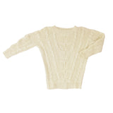 Cream Alpaca Sarah Cable Knit Sweater - Stick & Ball