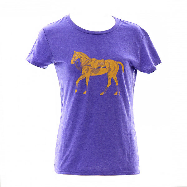 Women's Polo Pony T-shirt - Purple - Stick & Ball