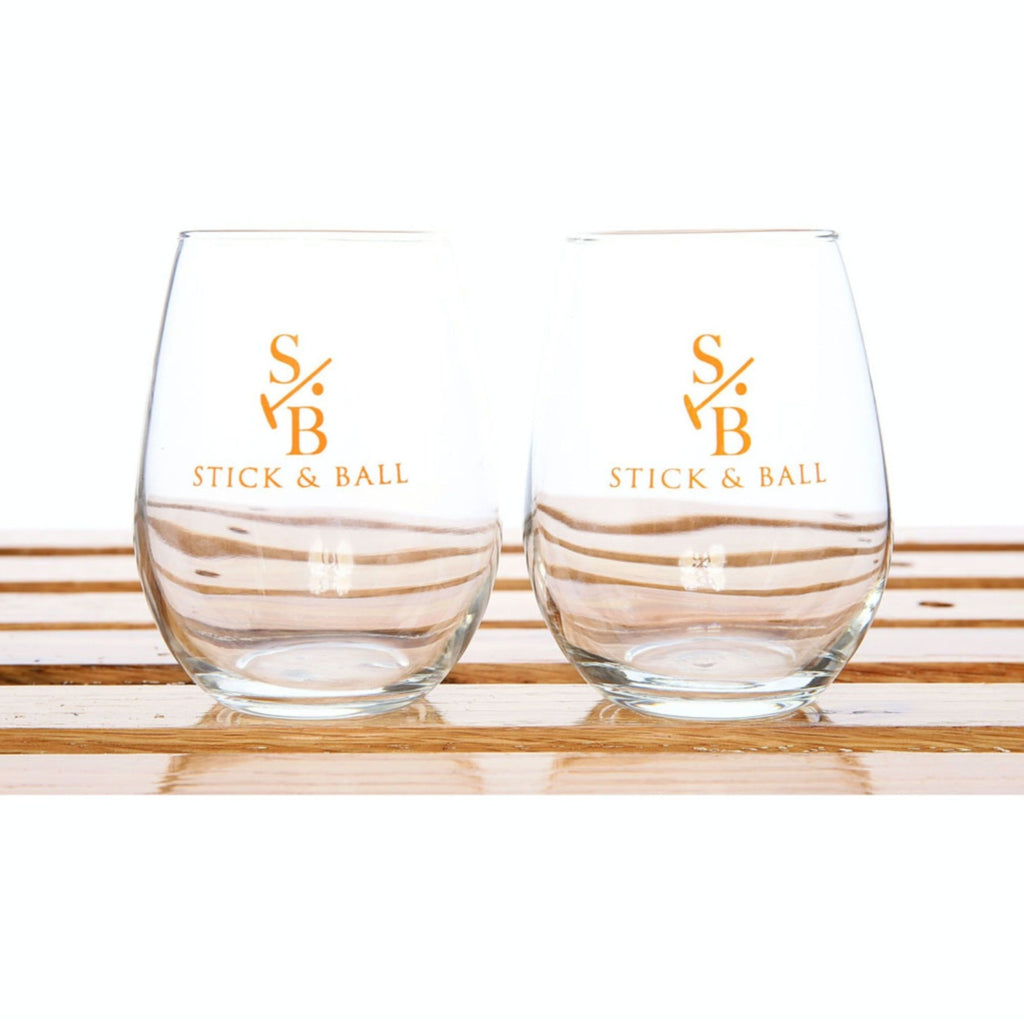 Stick and Ball Stemless Glass