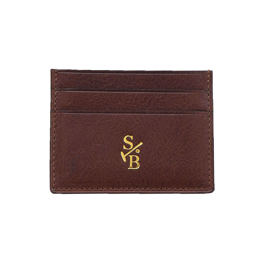 Double Sided Flat Wallet - Brown