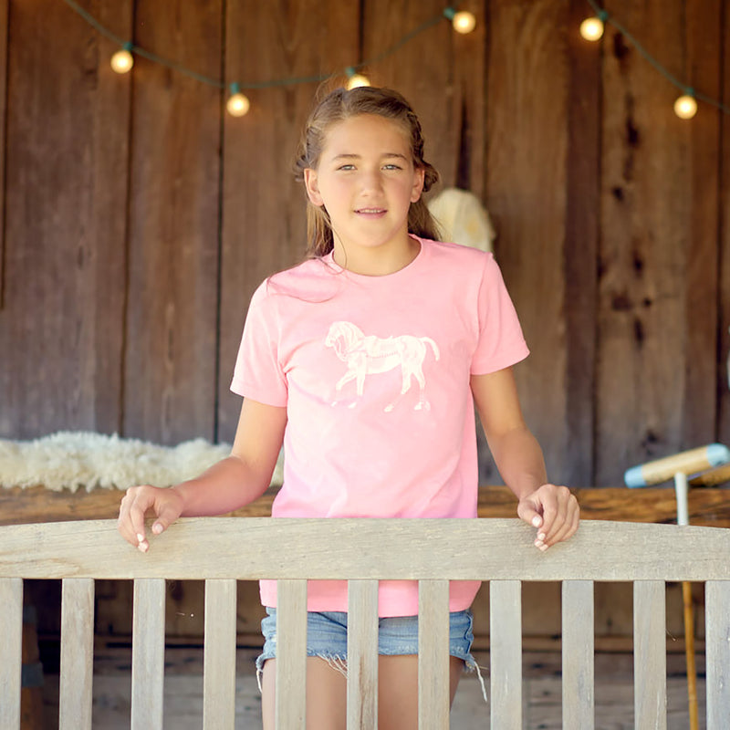 Polo Pony T-shirt  - Kid's Pink