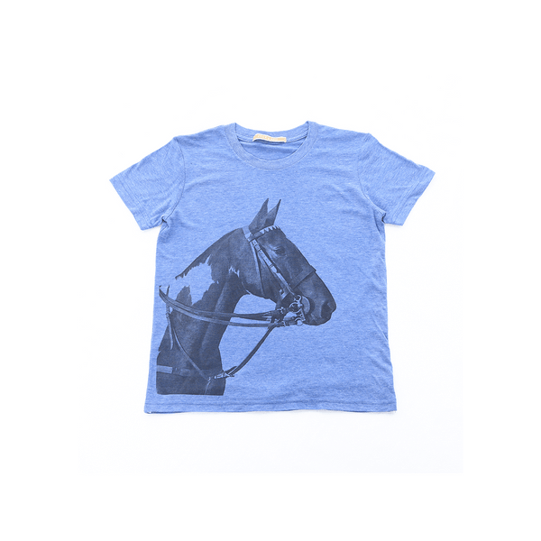 Kid's Tobiana Horse Head T-shirt - Blue - Stick & Ball