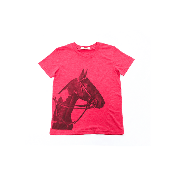 Kid's Tobiana Horse Head T-shirt - Red - Stick & Ball