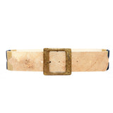 Stick & Ball women's Rawhide Pampa Belt with navy & tan stitch