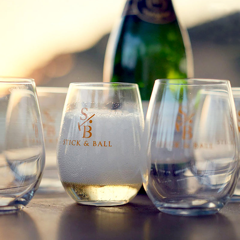Stemless Glass - 12 oz & 17 oz - Stick & Ball