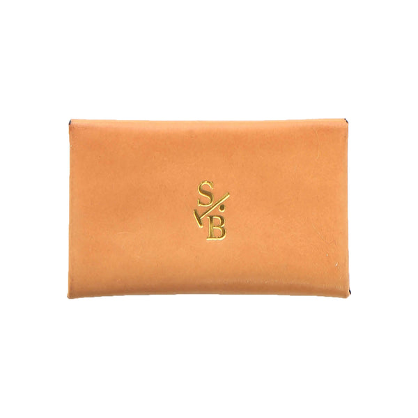 Tan Envelope Leather Card Holder