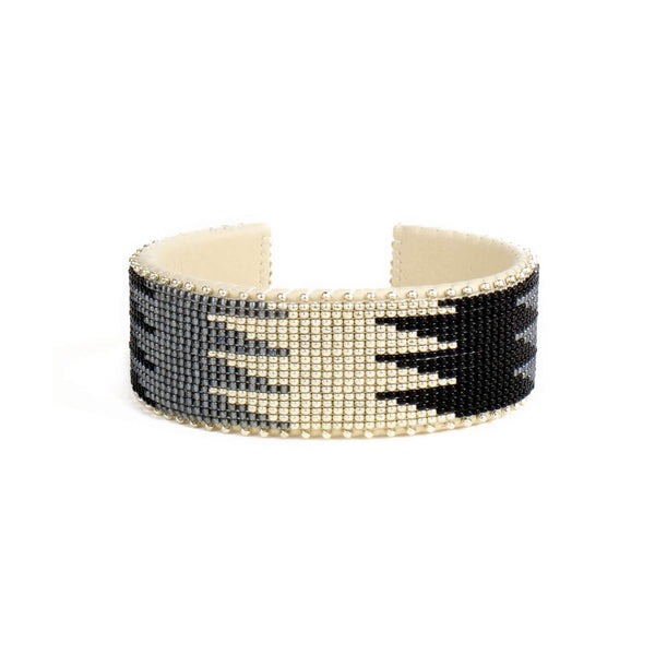 Coco Silver Glass Etkie Cuff
