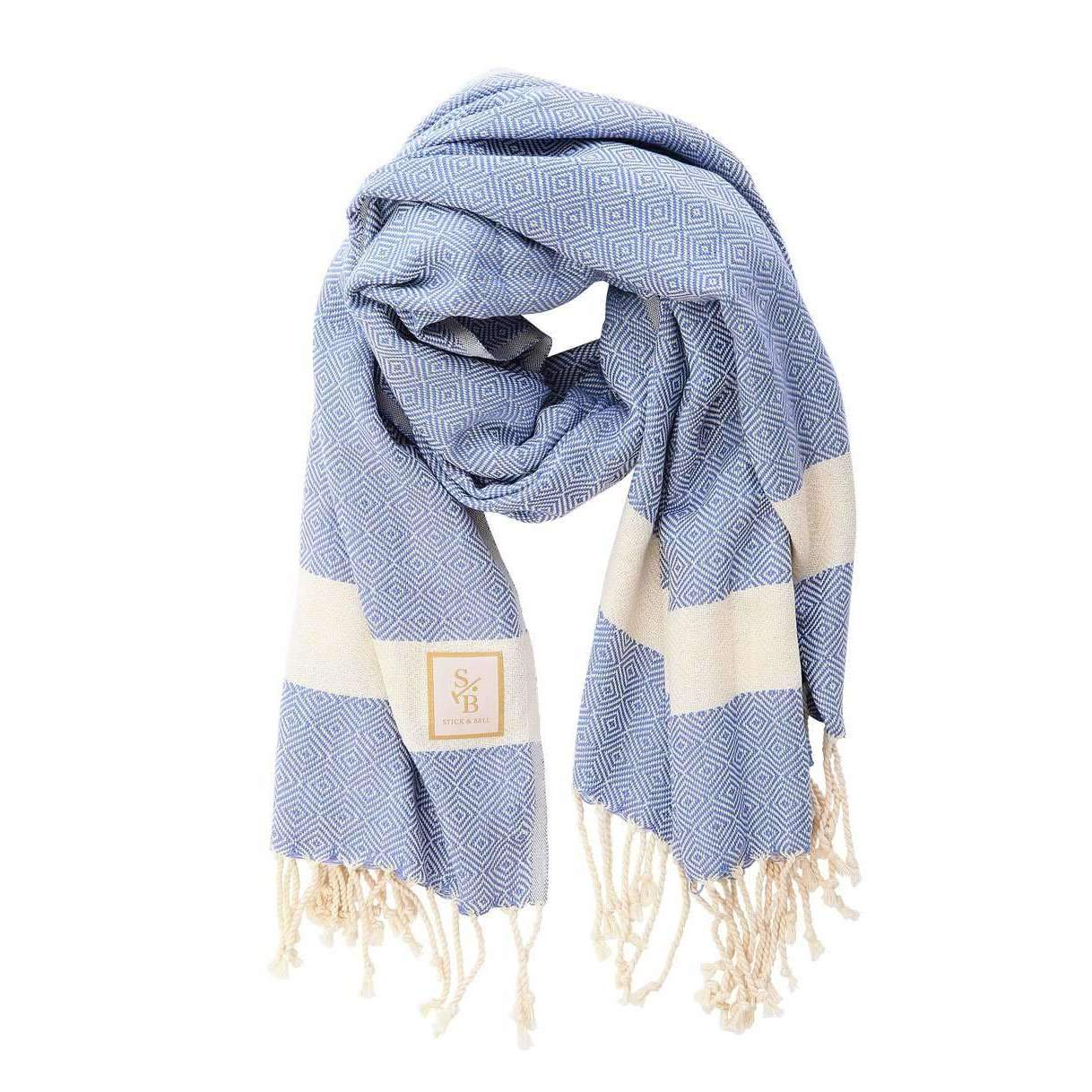 Light Blue Cotton Scarf