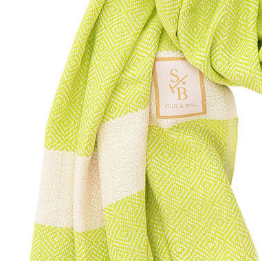 Green Cotton Scarf
