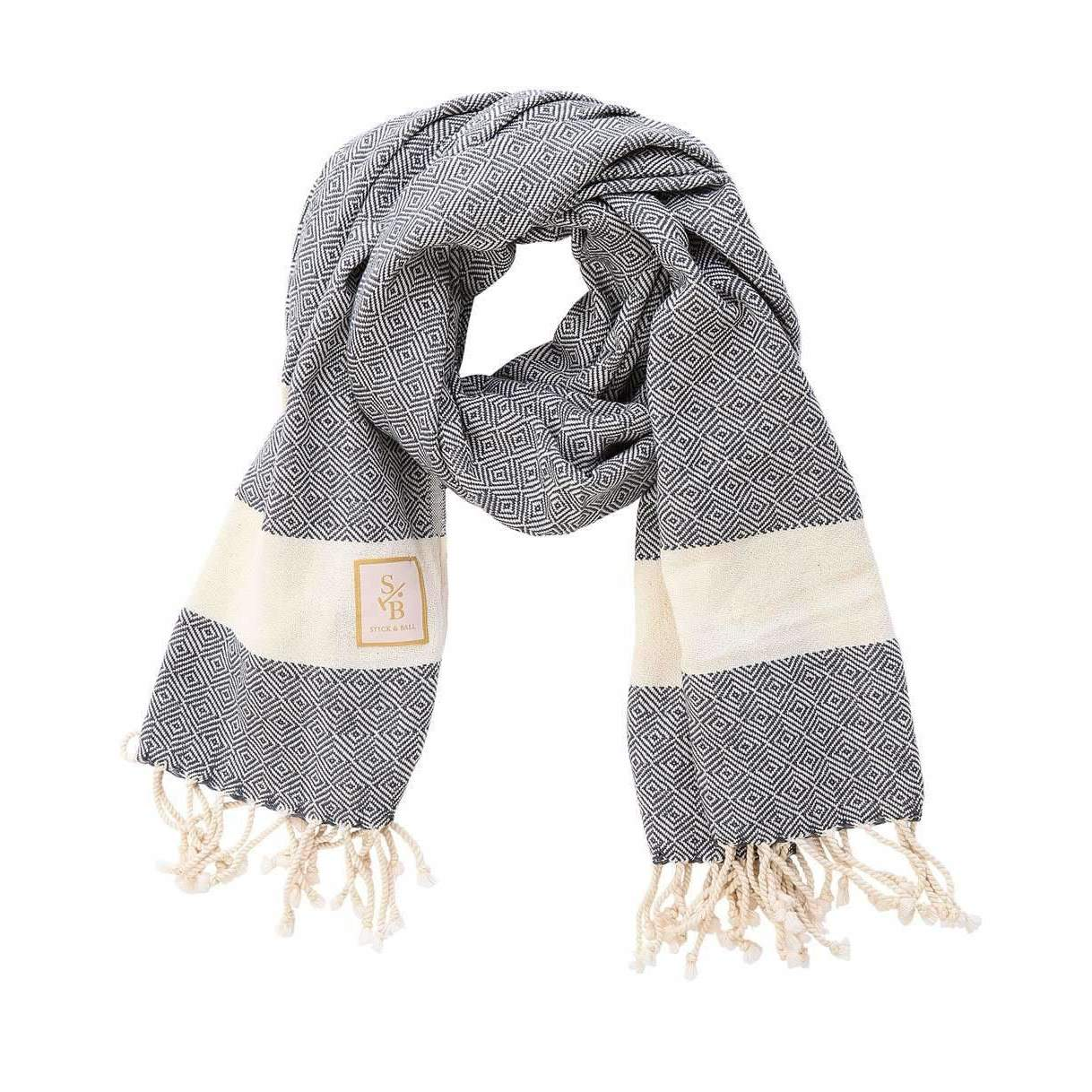 Grey Cotton Scarf