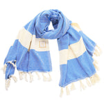 Royal Blue Cotton Scarf