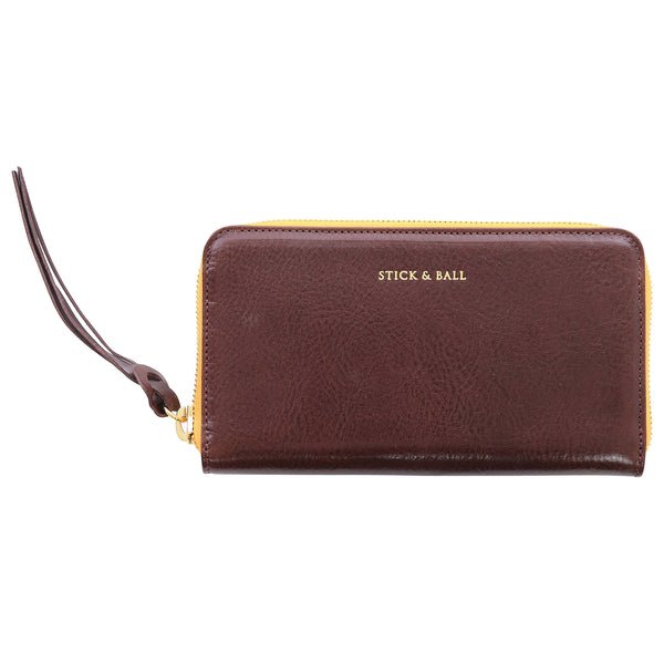 Stick & Ball Zip / Clutch Wallet - Espresso