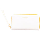 Handmade Vegetable-tanned Italian Leather Zip/Clutch Wallet in White - Stick & Ball