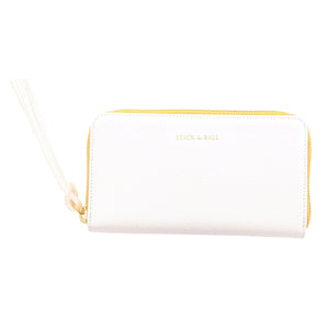 Stick & Ball Zip / Clutch Wallet - White
