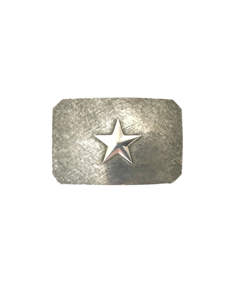 Belt Buckle - Brushed Silver Star