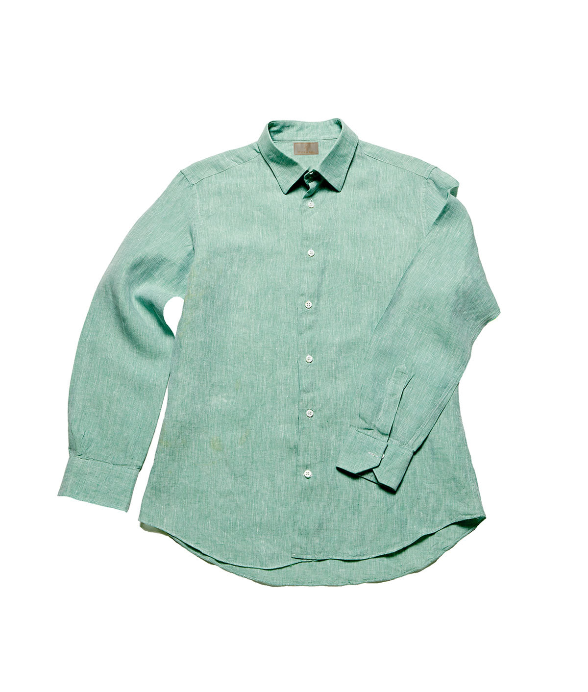 Men's Linen Shirt - Sage Green
