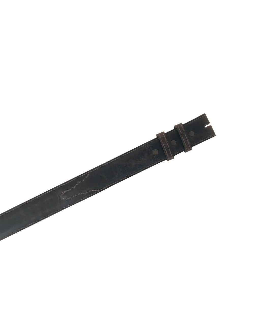 Designer Belt Strap - Chocolate Goat Straight