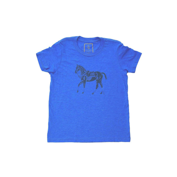 Kid's Polo Pony T-shirt - Blue - Stick & Ball