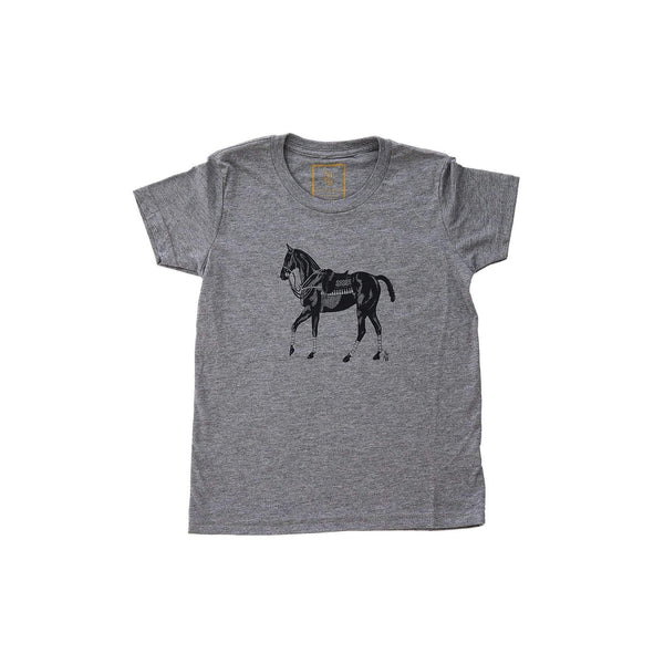Kid's Polo Pony T-shirt - Grey - Stick & Ball
