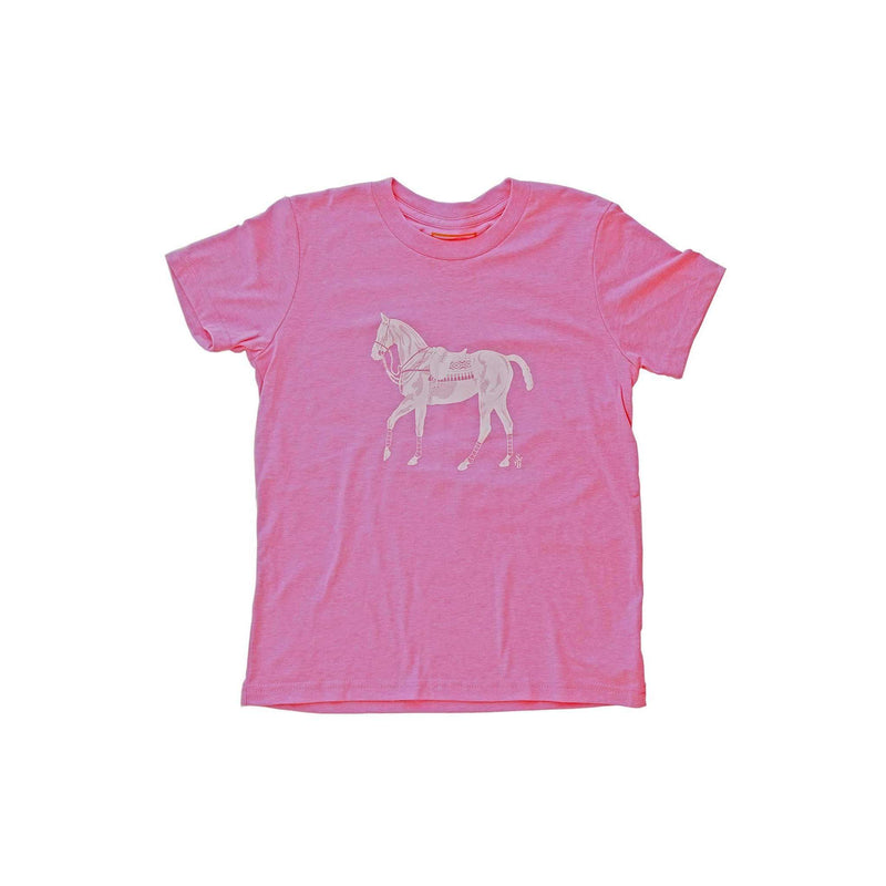 Kid's Polo Pony T-shirt - Pink - Stick & Ball