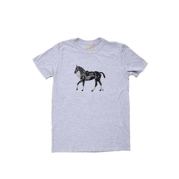 Men's Polo Pony T-shirt - Gray - Stick & Ball