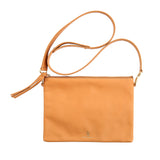 Handmade Vegetable-tanned deerskin leather Indio Crossbody Bag/Clutch in Palomino - Stick & Ball
