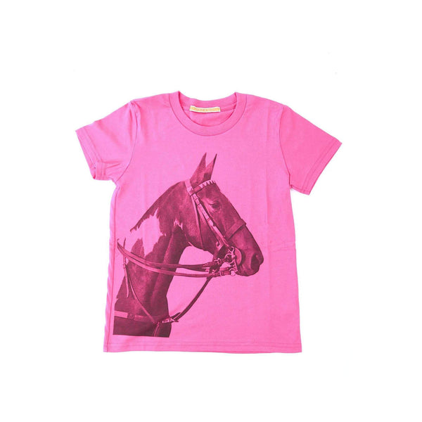Kid's Tobiana Horse Head T-shirt - Pink - Stick & Ball