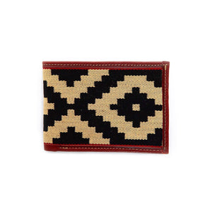 Men's Leather & Woven Wallet
