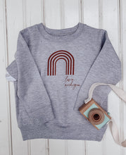 Load image into Gallery viewer, [A] Love Michigan! Rainbow Spice Toddler Sweatshirt- Athletic Heather