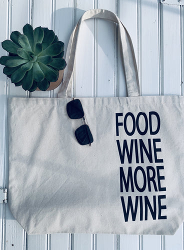 [D] Food Wine + More Wine Market Tote