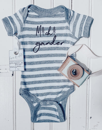[C] Michigander Grey + White Stripe
