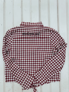 [A] Michigan Girl Buffalo Check Youth Shirt- Plaid