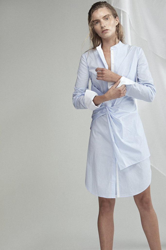 Rowe Stripe Shirt Dress