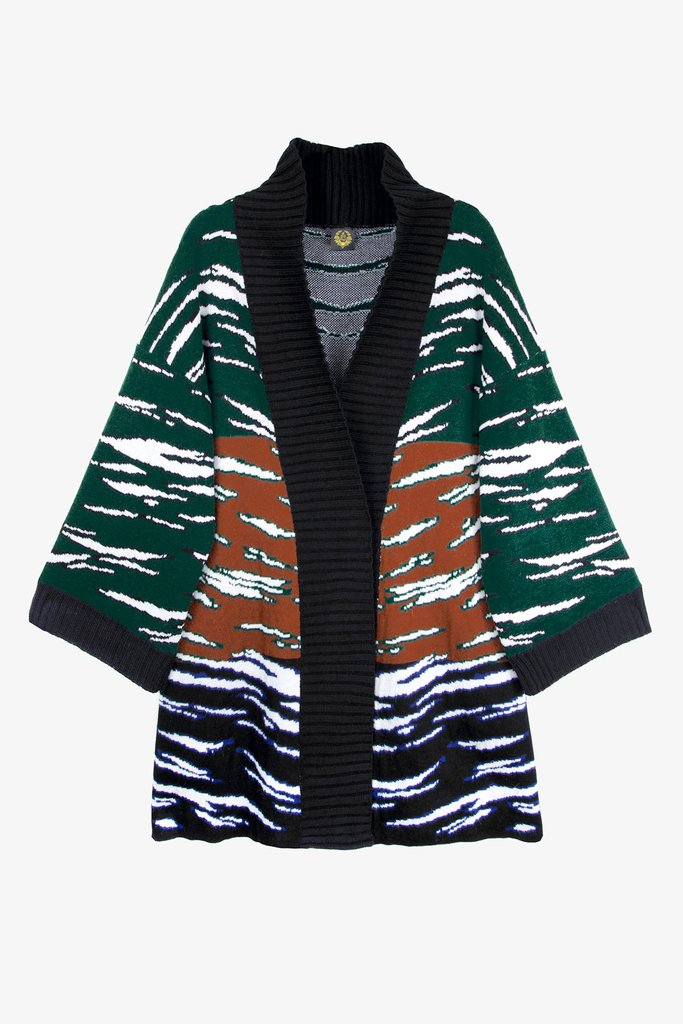Hirado Green Knit Oversized Cardigan