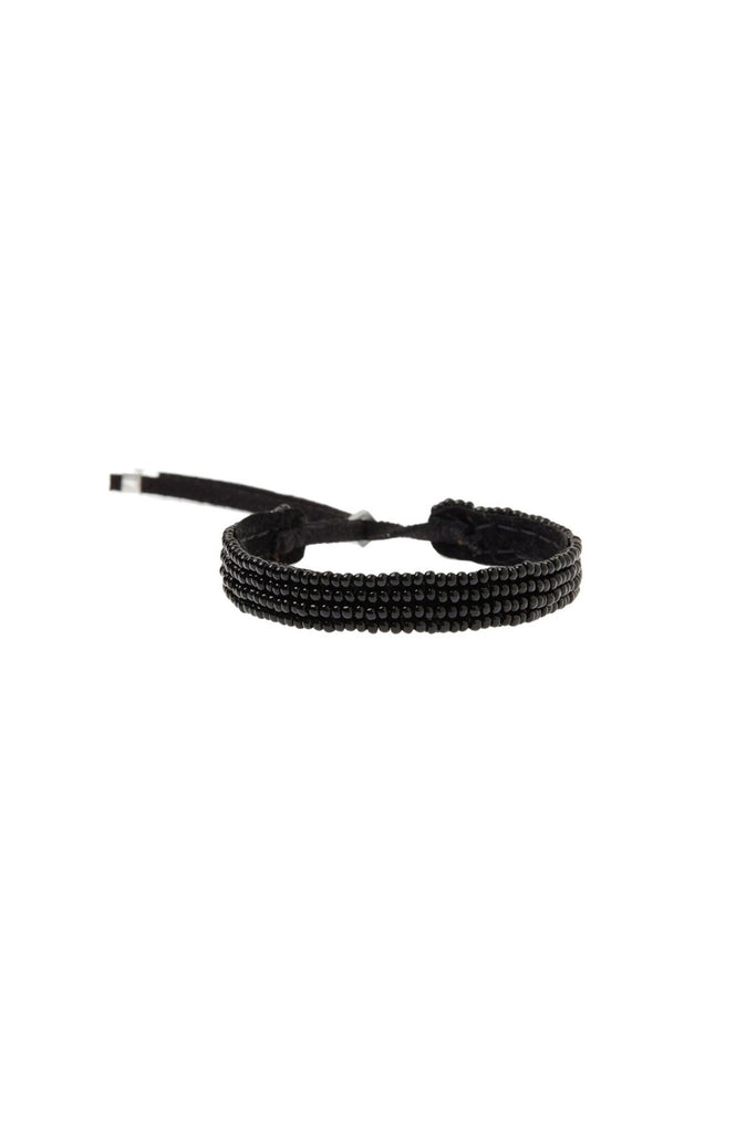 Adjustable Leather Bracelet - Black