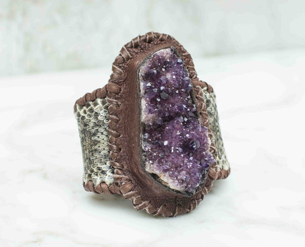 Amethyst with Citrine Flower