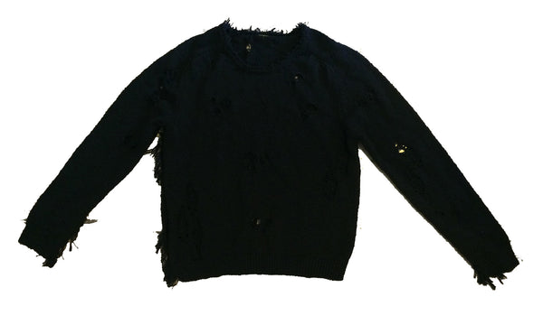 Jarid Short Knit Sweater - Black
