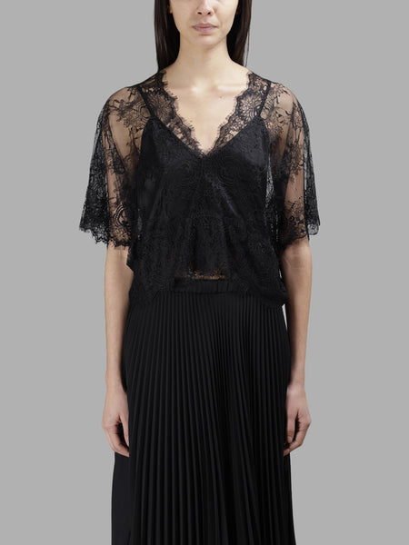 Lace Top with Cami - Black
