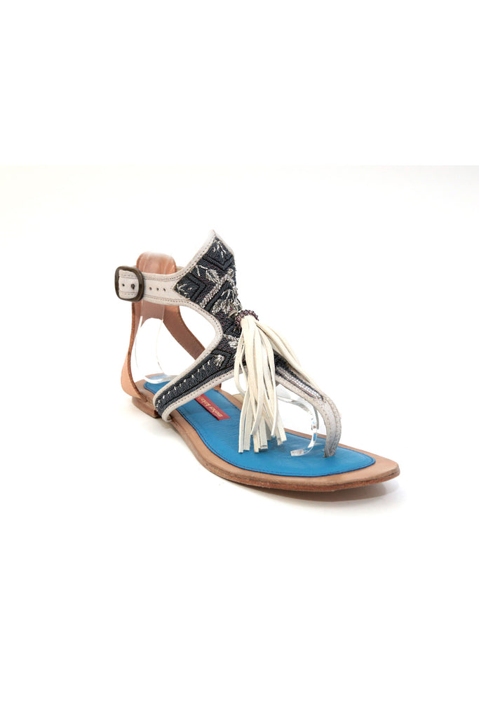 Queen Sofia Sandal – Canyon White + Steel