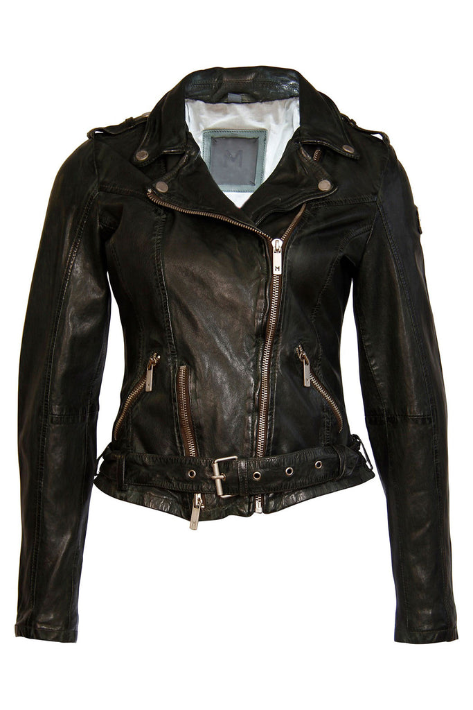 Moto Leather Jacket - Hunter Green