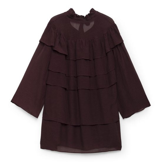 Pleated Dress - Maroon