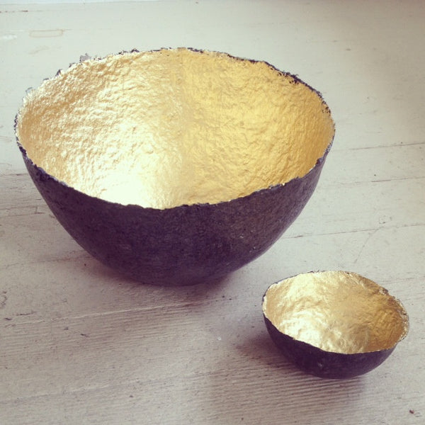 Paper Gold Bowl