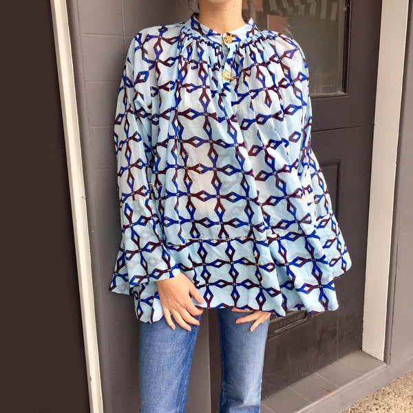 Ibiza Blouse - Blue Y