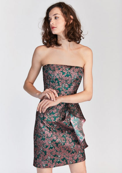 Strapless Jacquard Mini Dress