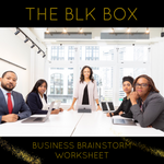 BUSINESS BRAINSTORM WORKSHEET
