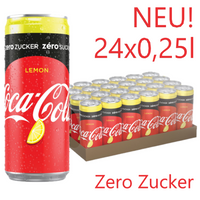 COCA COLA LEMON Zero 0,25l (24 Tray)